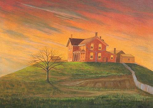 Ranchhouse Sunset by J W Kelly