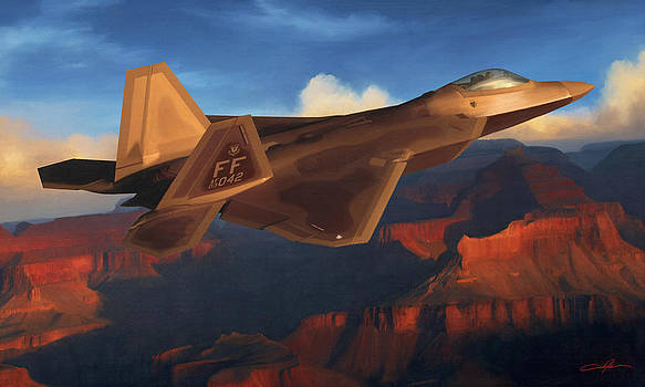 Dale Jackson - Raptor Over Grand Canyon