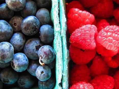 Raspberries and Blueberries by Lisa Lieberman
