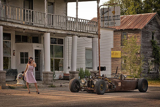 Rat Car At The General Store by Dennis James