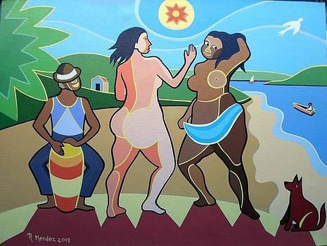 Raul Mendez Tema Sambistas Do Morro Medida 30x40  by Naifjunior Naifjunior