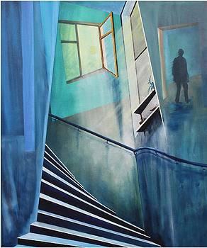 Raumirritation 05  by Gertrude Scheffler