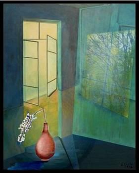Raumirritation 12a by Gertrude Scheffler