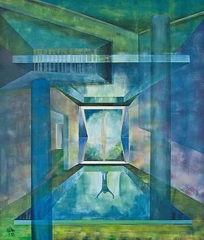 Raumirritation 13 by Gertrude Scheffler