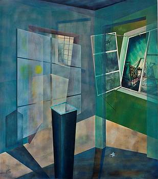 Raumirritation 15 by Gertrude Scheffler