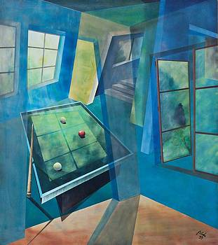 Raumirritation 18 by Gertrude Scheffler