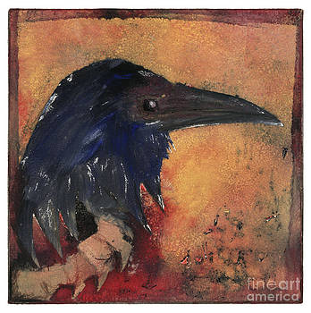 Raven - Middle Ages - Bird Of Ill Omen - Gallows Bird - Scavenger Bird - Fine Art Print -Stock Image  by Urft Valley Art