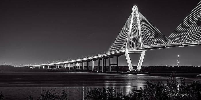 Ravenel Bridge at Night by Mike Covington