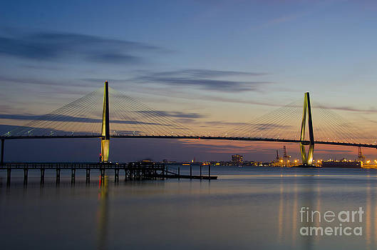 Dale Powell - Ravenel Bridge Nightfall