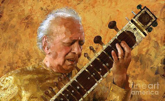 Ravi Shankar by Les Allsopp