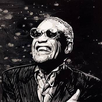 Ray Charles 24x24 Original Painting by Ocean Clark