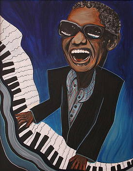 Ray Charles on Piano by Kate Fortin