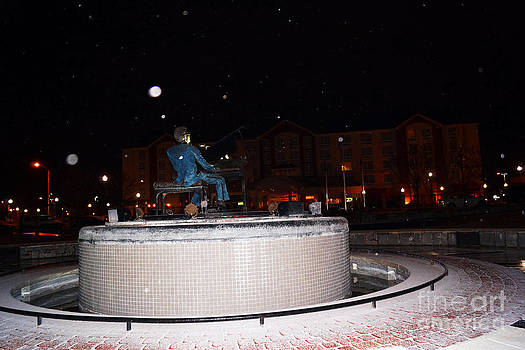 Ray Charles Statue In A Odd Weather Event by Kim Pate