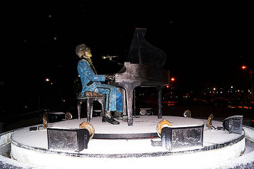 Ray Charles Statue In Odd Weather South Georgia by Kim Pate