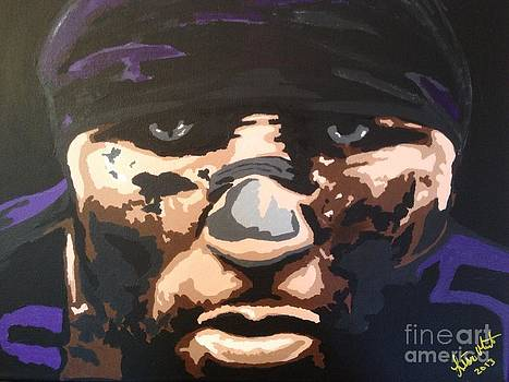 Ray Lewis Eyes by Lisa Martin
