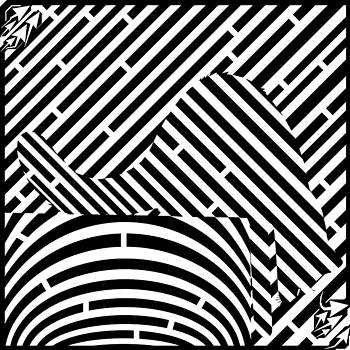 Reaching Cat Maze Op Art by Yonatan Frimer Op Art Mazes