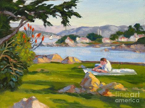 Reading at Lovers Point by Rhett Regina Owings