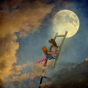Reading at Moonlight by Sonya Kanelstrand