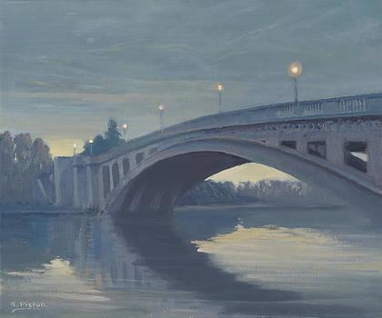 Reading Bridge at Night by Richard Picton