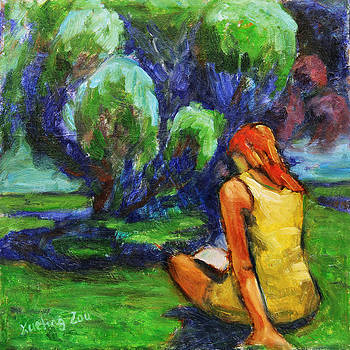 Reading in a Park by Xueling Zou