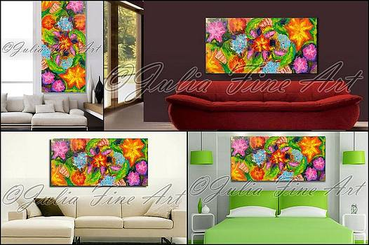 Real size interior examples by Julia Fine Art