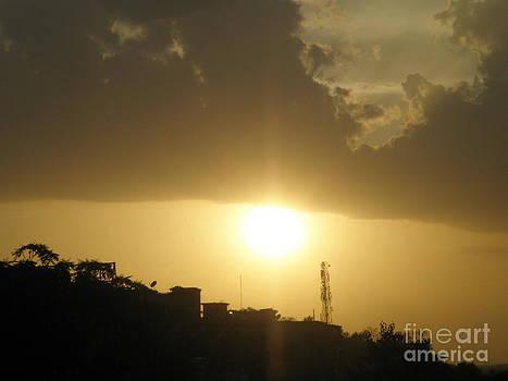 Really Beautiful Sunset by Artist Nandika  Dutt