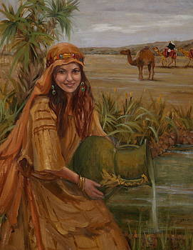 Rebecca at the Well by Judy Crowe
