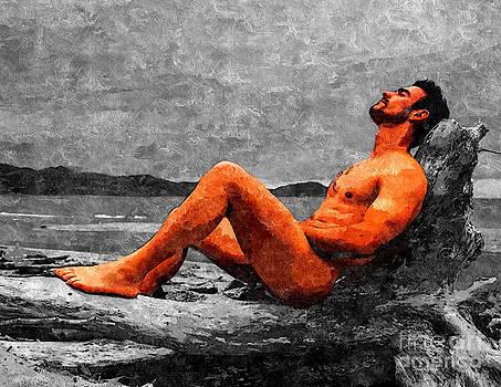 Reclined Nude Drifter by Brian Joseph