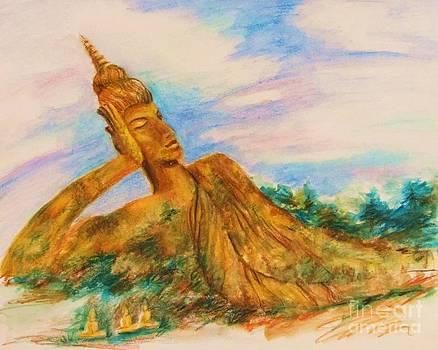 Recling Buddha Thailand by Beth Fischer