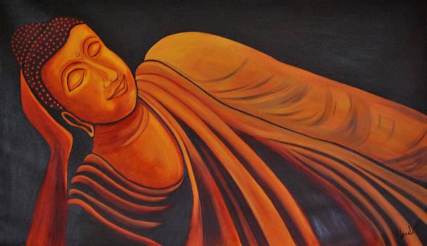 Reclining Buddha by Sonali Kukreja