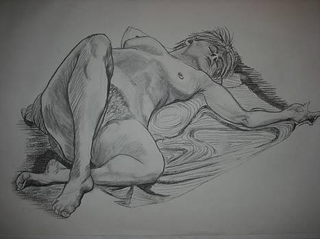 Reclining Female Nude by Michelle Deyna-Hayward