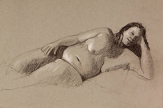 Reclining nude by Pablo Rivera