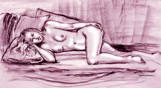 Reclining Nude Woman by Martin Sullivan