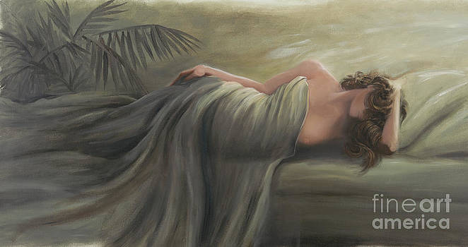 Reclining Woman by Dan Dollahon