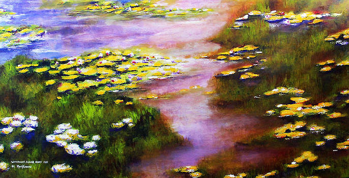 Recreation of Water Lilies by Marti Green