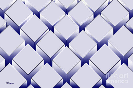 Rectangular Prisms - blue variation by E B Schmidt