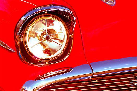 Red 57 Chevy close up by Gary De Capua