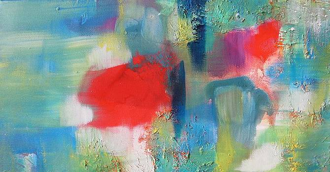 Alfred Ng - red and blue abstraction