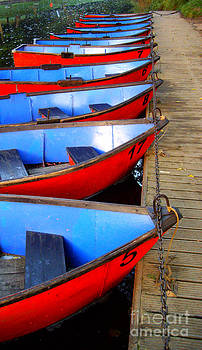 Malcolm Suttle - Red and Blue Boats