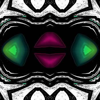Marcela Bennett - Red and Green Christmas Lips