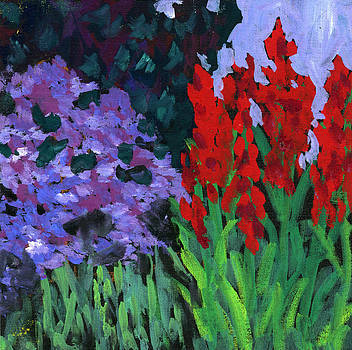 Red And Lavender by Donna Crosby