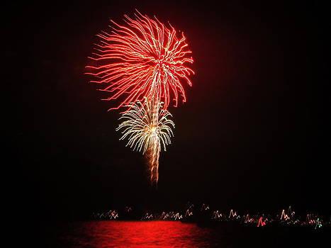 Jennifer Lamanca Kaufman - Red and White Fireworks