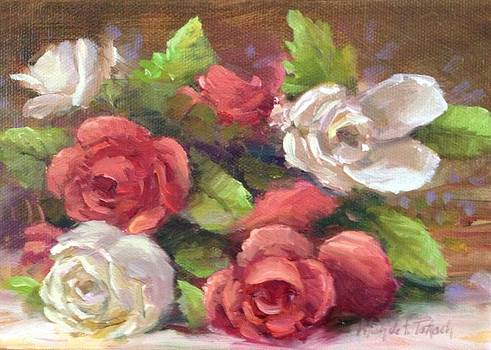 Red and White Roses by Michele Tokach