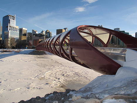 Red Angles Bridge Calgary by Pamela Funk