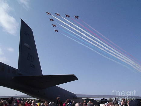 Red arrows by Fergus Mitchell
