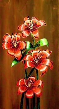 Red Azaleas by Victoria Rhodehouse