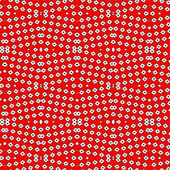 Tracey Harrington-Simpson - Red Background White Diamond and Black Spots 2