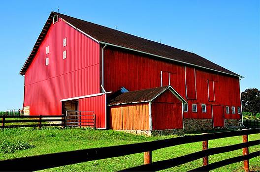 Red Barn by Christine May
