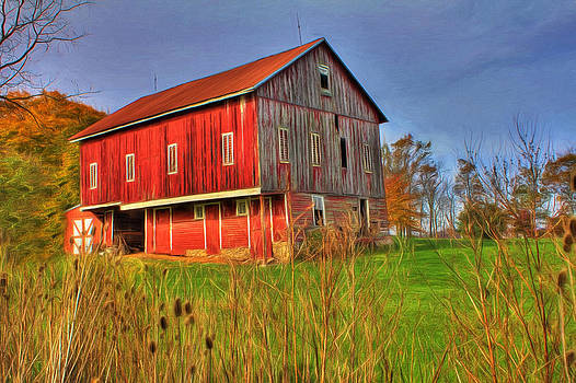 Red Barn II by Sharon Batdorf