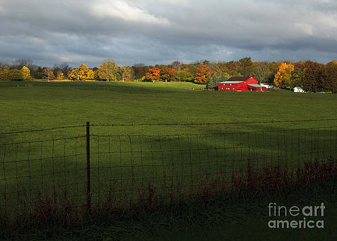 Red Barn in Light by Kelly Morrow